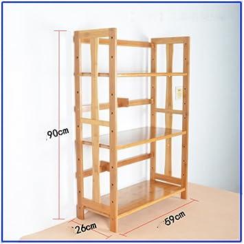 JX&BOOS Librería de Oficina,Escritorio estantería almacenaje Rack Simple Creativo Escritorio de Madera sólida-H 59x26x90cm(23x10x35): Amazon.es: Hogar