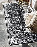 Unique Loom Sofia Collection Black 2 x 7 Runner