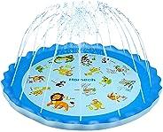 Homech Sprinkler for Kids, Splash Pad, Outdoor Sprinkler Water Toys, Wading and Learning, 68