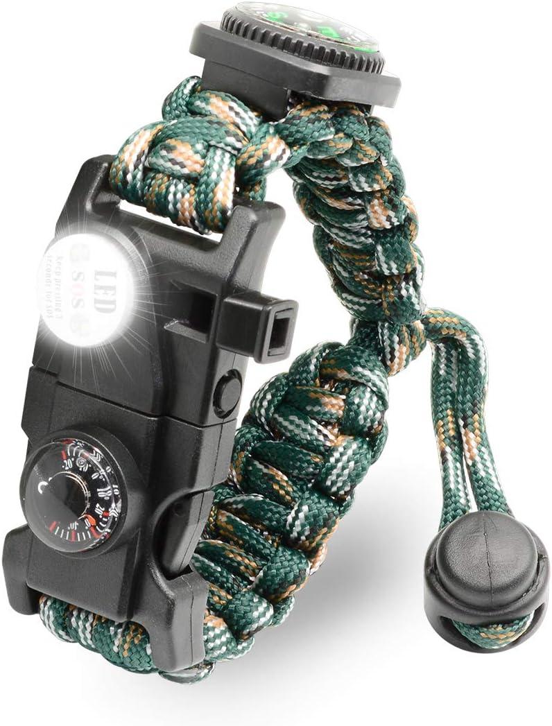 LeMotech Adjustable Survival Bracelet Kit