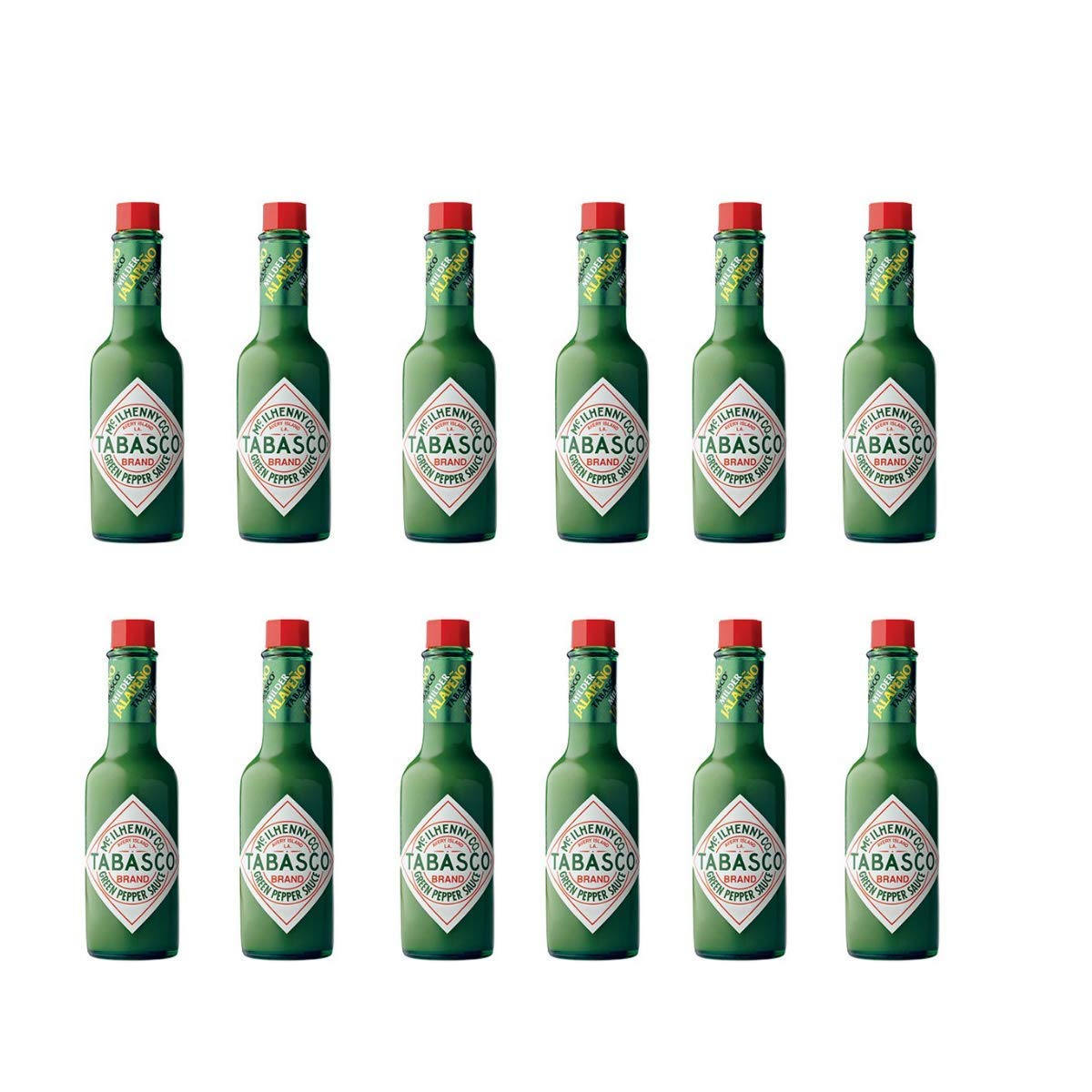 Tabasco Green Pepper Sauce, 5-ounce Bottle (Pack of 12)