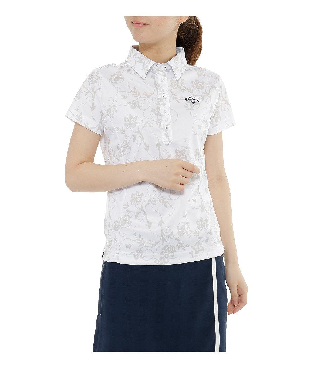 キャロウェイ レディース ゴルフウェア ポロシャツ 差込フラワーPT半袖シャツ 241-7257828 030 L   B073BMRFBG