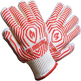 Grill Armor 932°F Extreme Heat Resistant Oven Gloves - EN407 Certified BBQ Gloves For Cooking, Grilling, Baking - Lady Small Size