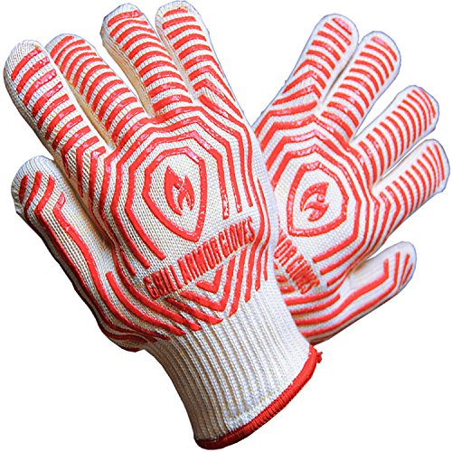 Grill Armor Extreme Heat Resistant Oven Gloves - EN407 Certified 932F - BBQ Gloves For Cooking, Grilling, Baking, Extra Small Size