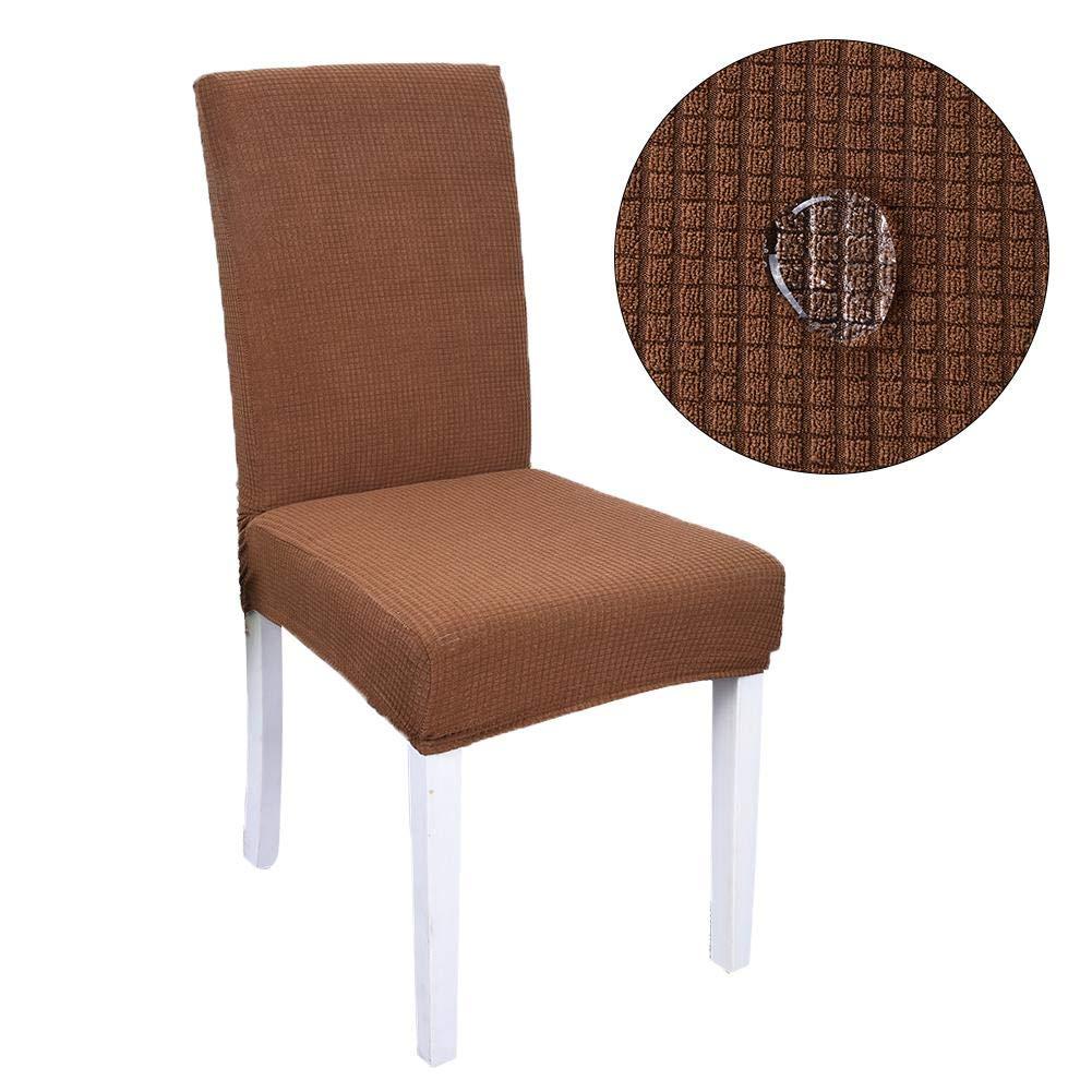 Ipenty Chair slip cover elasticizzato rimovibile moda moderno decorativo della sedia da pranzo in spandex sedia pelle elasticizzata rimovibile sedia per sala da pranzo, hotel, banchetti, cerimonia Waterproof Plaid Black