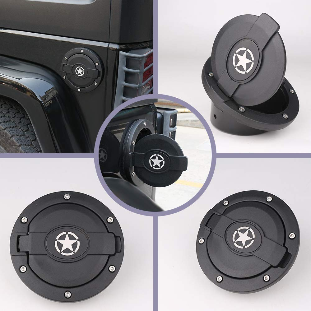 Door Handle Button Trim for Jeep Wrangler JK Unlimited 4D 2007-2017 Athiry Chrome 5 PCS Door Handle Accents//Inserts Cover