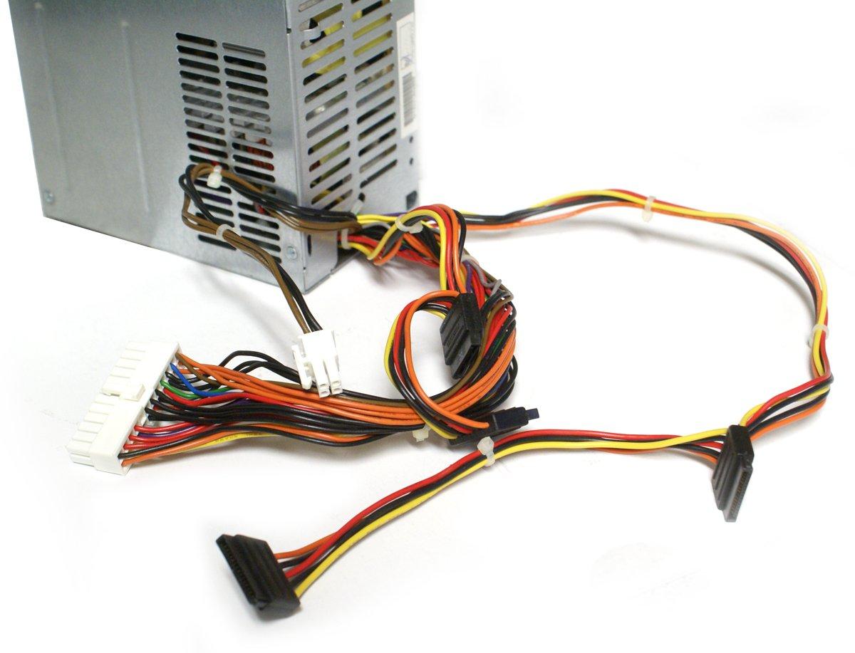 Genuine Dell 300W Watt Replacement Power Supply Brick PSU For Dell Vostro 200, 201, 400, 410, 430, 220, 260 Mini Towers Studio 540, 540s, Precision T1500, Inspiron 518, 519, 530, 531, 537, 540, 541, 545, 546, 560, 570, 580, 620 Mini Towers MT Systems Repl