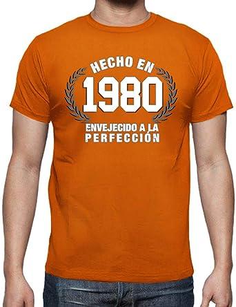 latostadora - Camiseta Hecho en 1980 Envejecido para Hombre: Goatxa: Amazon.es: Ropa y accesorios