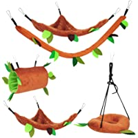 Hemobllo 5pcs Hamster Hanging Toys Swing Hamster Hammocks Hanging Beds for Gerbil Rat Mouse Chinchillas Guinea Pig Cage Toys