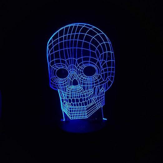 orangeww Luz de noche 3d para niños / 7 colores Ilusión remota Luz ...