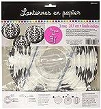 Zebra Round Paper Lanterns| Pack of 3| Party Decor