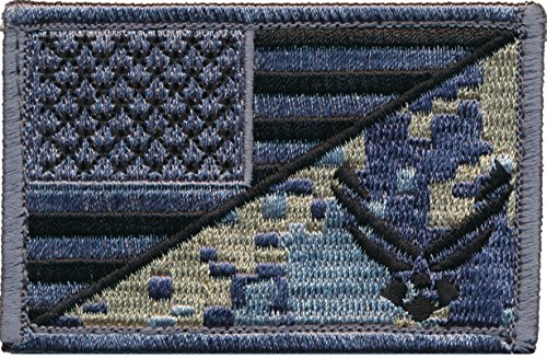 Patch Squad Men's Tactical USA Flag / USA Air force Logo Embroidered Patch (ACU)