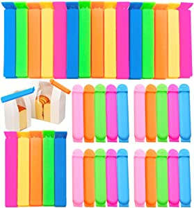 40 Pcs Plastic Sealing Clips Bag Clips for Food,Food Clips for Snack Fresh-Keeping,Kitchen Food Storage and Organization (2 Size,2.8/4.3 Inch)