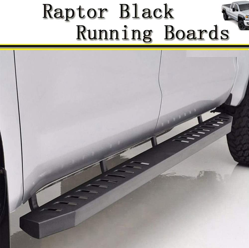 "78/"" Black Mega Running Boards for 2005-2020Toyota Tacoma Double Cab//Crew Cab"