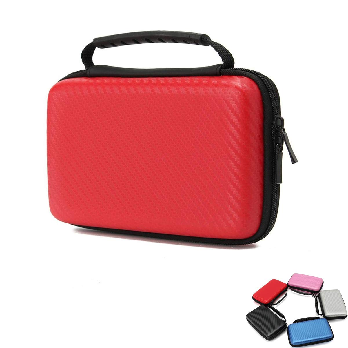MIFAVOR Carrying Case for New Nintendo 2DS XL Hard Case Bag with Handle for New 2DS XL 2017 (Red)