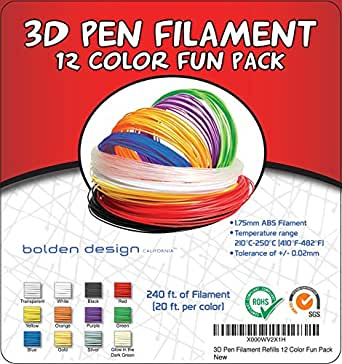 3doodler plastic refills 1 75mm abs 3d pen filament also