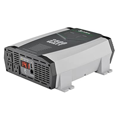 Cobra CPI2590 Portable Power Inverter – 2500 Watt Car Charger, 2 Grounded AC Outlets, 12 Volt 2.4 Amp USB Port: Car Electronics