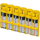 """(Yellow) - Storacell by Powerpax Slim Line """"AAA"""" Battery Caddy, Yellow - Holds 15cm AAA"""" Batteries"""
