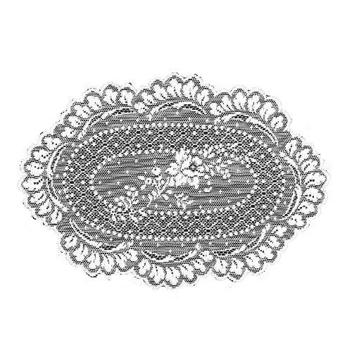 (Heritage Lace Floret 8-Inch by 12-Inch Doily, Ecru, Set of 2 by Heritage Lace)