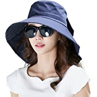 74c305f2368 UV Protection Sun Hats Packable Summer Hat Women w Ponytail Chin Strap  55-61CM