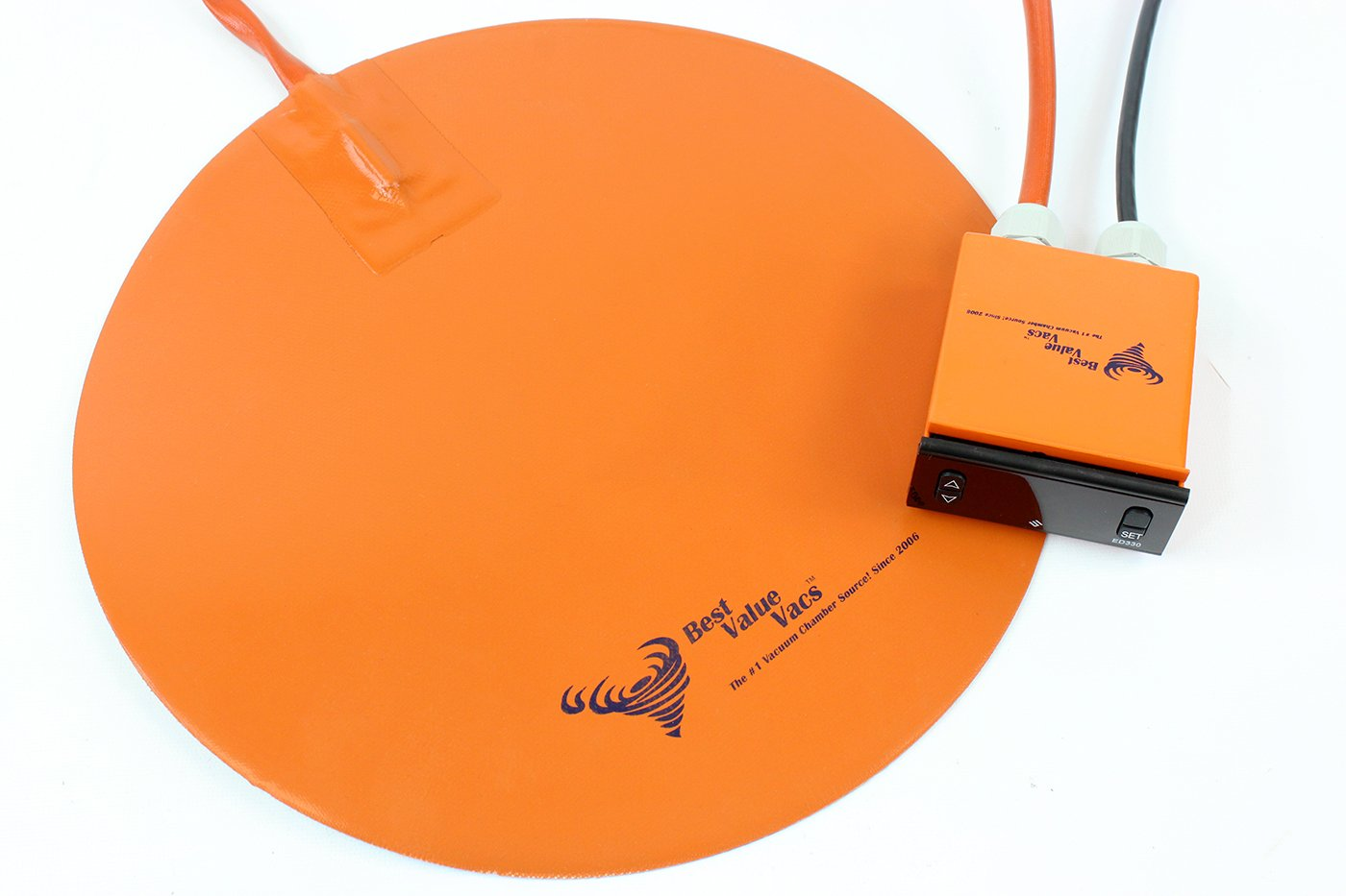 Best Value Vacs heatpad12inch Borosilicate Glass Vacuum Chamber Digital Heat Pad, 12'' Diameter