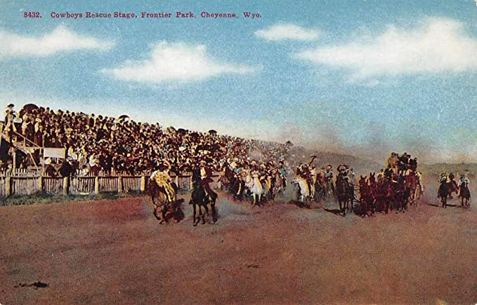 antique stores cheyenne wy Cheyenne Wyoming Frontier Park Cowboys Antique Postcard K107728 at  antique stores cheyenne wy
