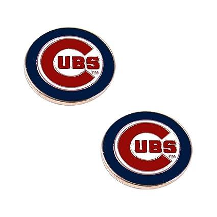 Amazon Chicago Cubs Post Stud Logo Earring Set Mlb Charm