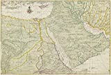 Map Poster - Map of Egypt, the Arabian peninsula and a portion of Iran (Persia) 16.5'' x 24''