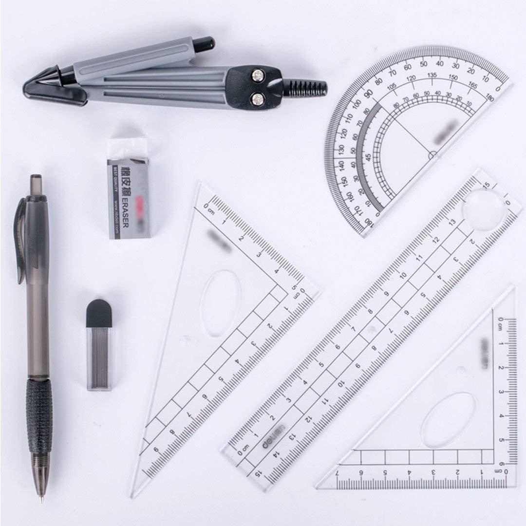 MOBRAVO Set 8-teiliges Geometrie-Set Kompas in einer Aufbewahrungsbox Style A