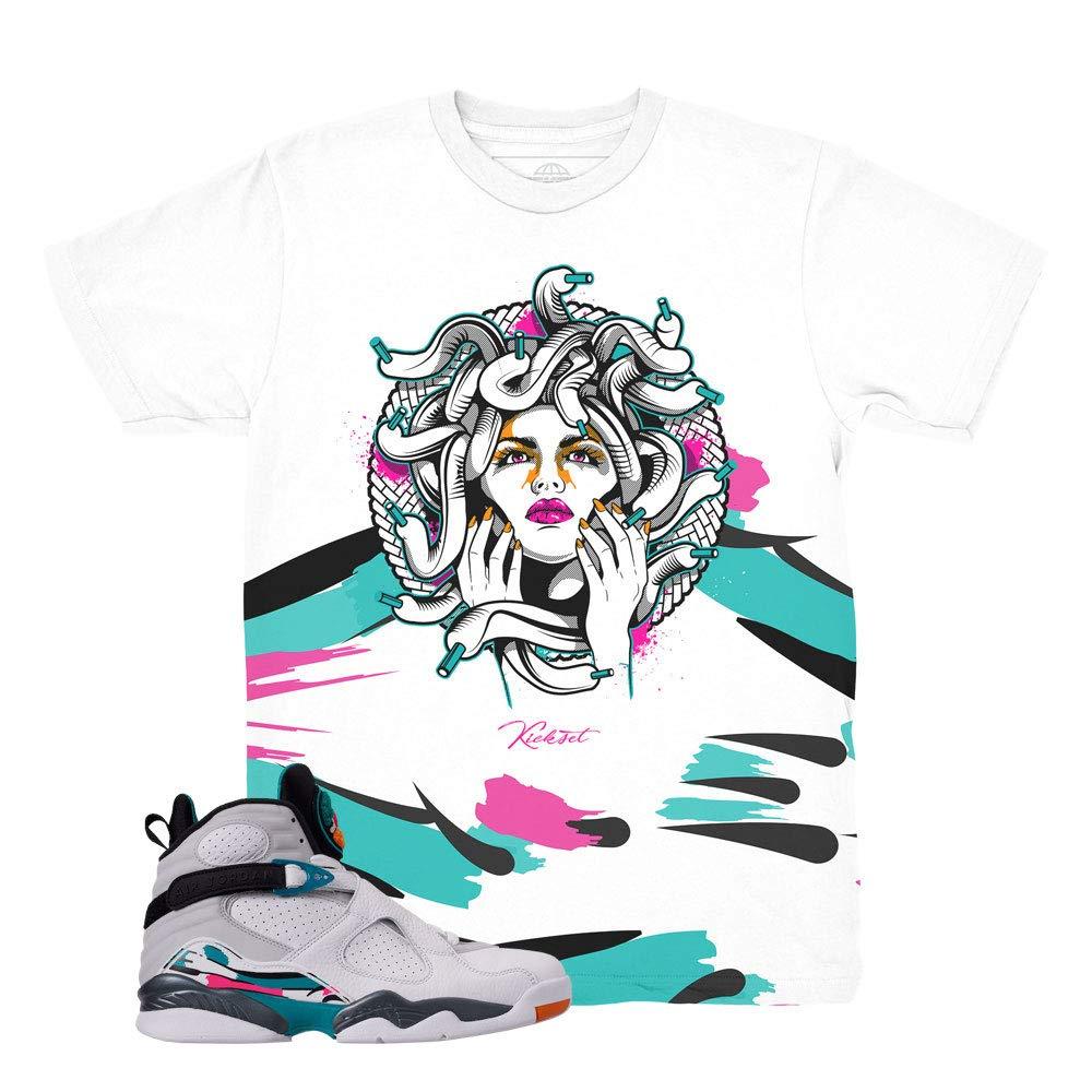 huge selection of 4eecb debf5 Amazon.com: South Beach 8 Medusa Waves Shirt to Match Jordan ...
