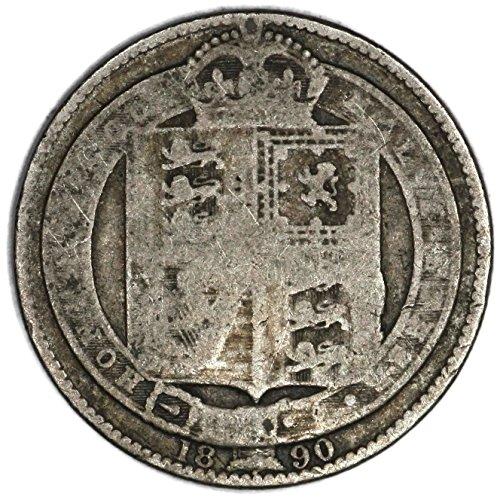 1890 UK Great Britain Queen Victoria Facing Left KM# 774 Shilling FAIR