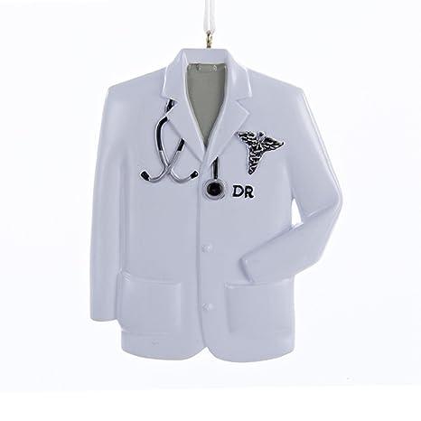 3,5 blanco y negro Doctor bata de laboratorio adorno de Navidad