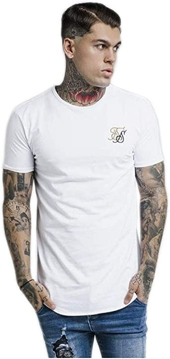 SIK & SILK - SS14048 - Contrast Logo Gym tee - Camiseta Manga Corta - Hombre (M): Amazon.es: Ropa y accesorios