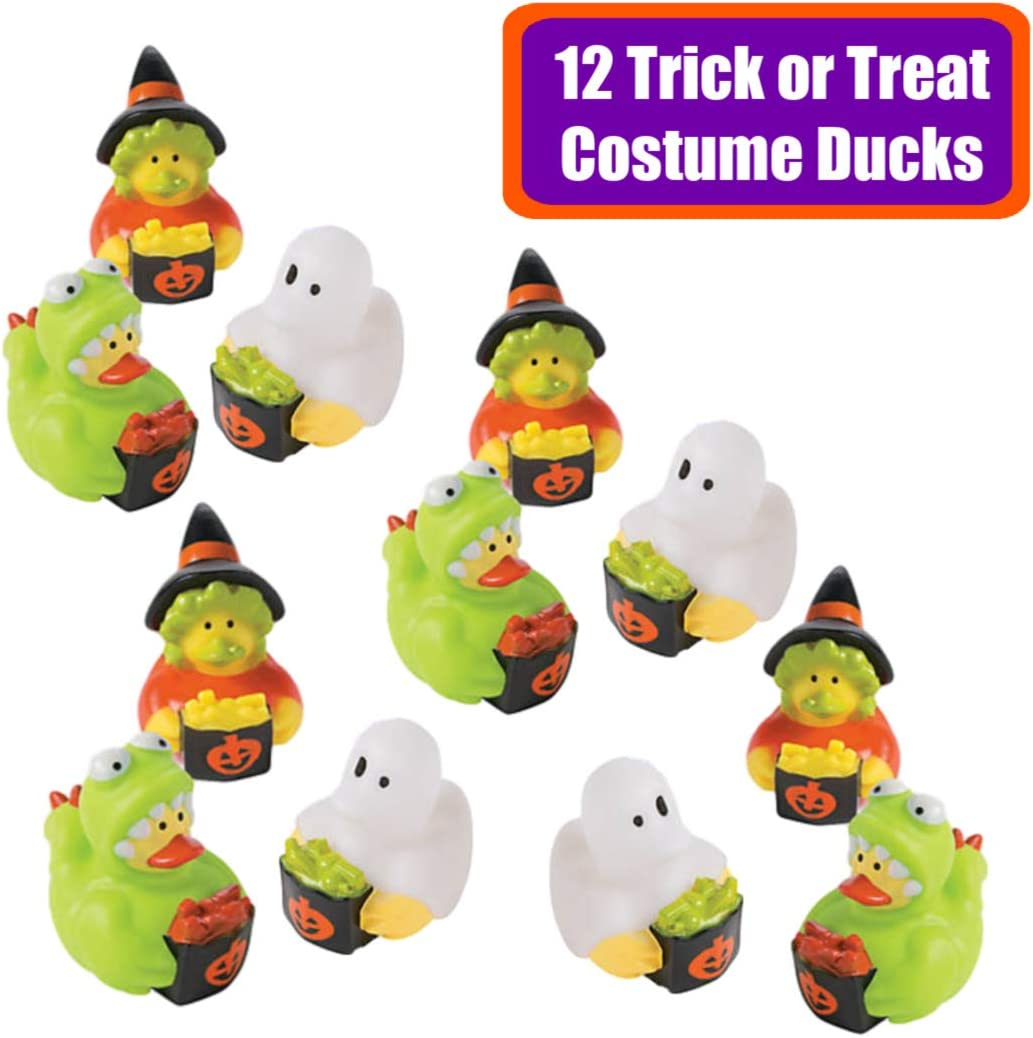 - Kids Halloween Party Favors 50 Pieces + Mummy Bag Halloween Character Toys Trick or Treat Handouts Bulk Variety Pack Assortment Table Decorations Prizes