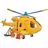 Smoby 109251002002–Sam el bombero–Helicóptero Wallaby 2–+ 1figura–funciones Sonoros y luminosas