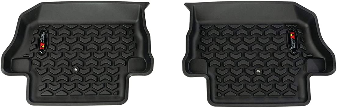 Rugged Ridge 12987.43 All Terrain Floor Liner Kit Black 2 Dr 2018-present Jeep Wrangler JL Front//Rear