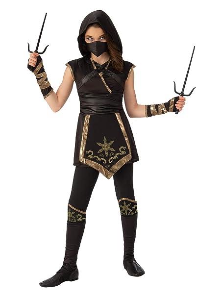 Amazon.com: Rubies Disfraz de niña Ninja Misterious, S ...