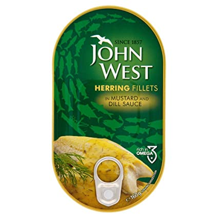 John West Herring filetes en salsa de mostaza (160g x 10 x 1 pack size