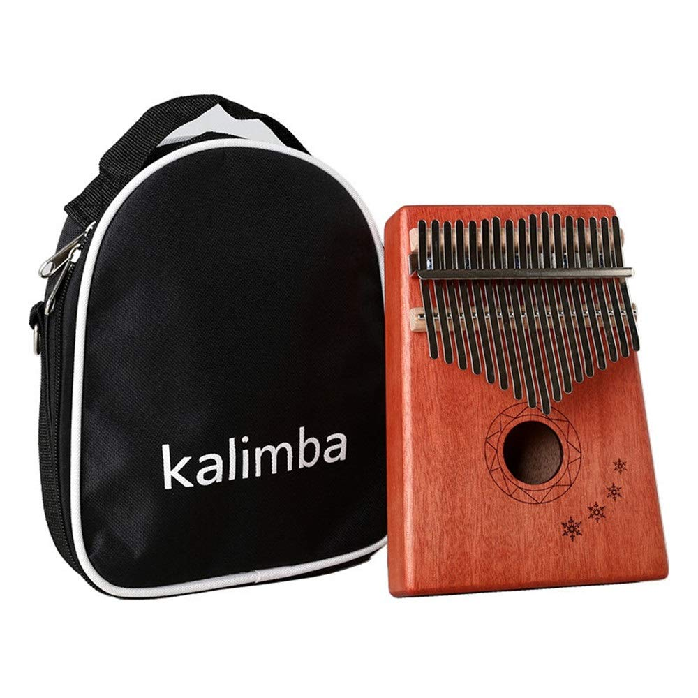 Portable 17 Keys Kalimba Thumb Piano Standard C Tune Finger Piano Mahogany Wood Body Metal Tines with Tuning Hammer Carry Case African Musical Instrument Kids Gifts (Color : C3, Size : Free Size) by TAESOUW-Musical