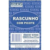 Bloco Para Rascunho C/Picote E Grampo 80 Folhas 80x11, 5 - Pacote com 20, São Domingos, 6427-6, Multicor
