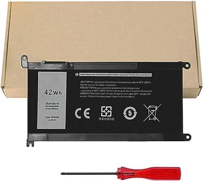 42Wh WDX0R WDXOR 3CRH3 Battery Laptop for Dell Inspiron 13 5368 5378 5379 7368 7378 14 7472 15 5565 5567 5568 5570 5578 5584 7560 7570 7579 7569 17 5765 5767 5770 7460 Latitude 3379 T2JX4 FC92N CYMGM