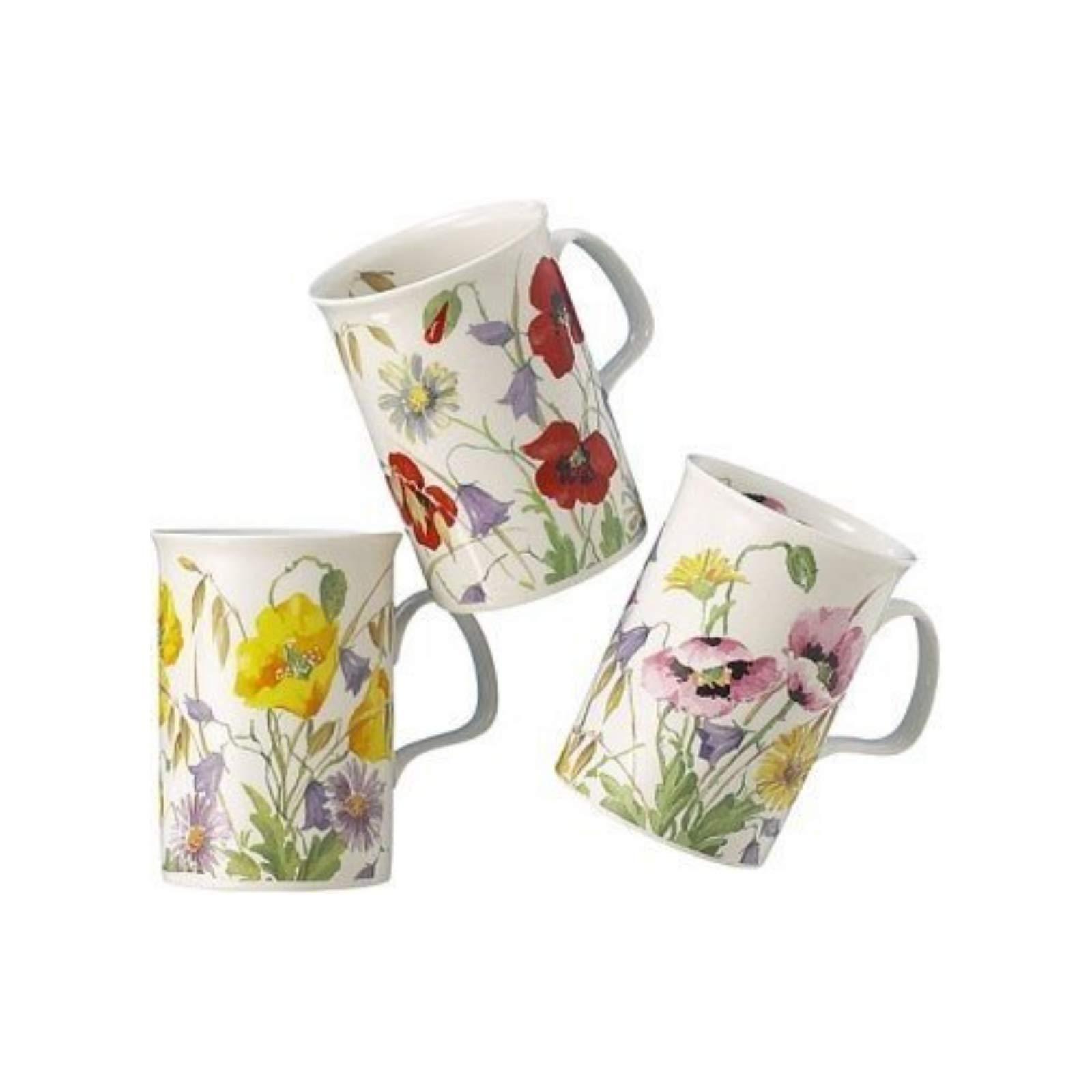 Roy Kirkham English Meadow Set Of Three Assorted Mugs