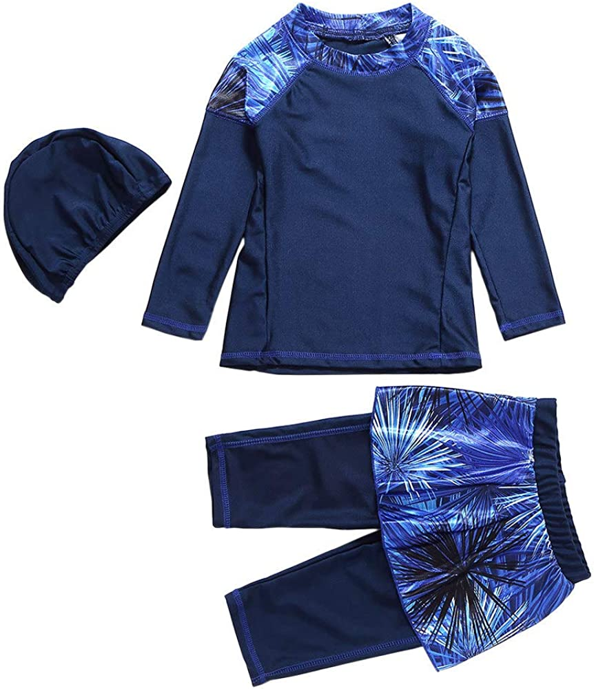 Xingsiyue Musulmano Costumi da Bagno Madre e Figlia 3 Pezzi Swimwear Modesto Islamico Burkini Costume da Surf Protezione Solare UPF 50 Beachwear
