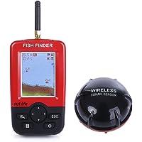 OUTLIFE Echos Sondeurs et Détecteurs pour Pêcheur Intelligente Portable Fish Finder avec Capteur de Sonar sans Fil Alarme de Pêche Alerte Peche Pêche Détecteur Indicateur de Poisson