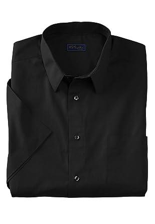 855990ca2b57d8 KS Signature Men's Big & Tall No Hassle Short-Sleeve Dress Shirt at Amazon  Men's Clothing store:
