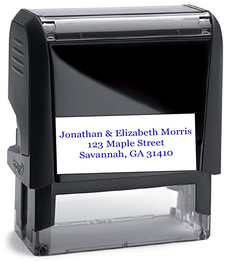 Amazoncom Personalized Address Stamp Black Ink Large Font