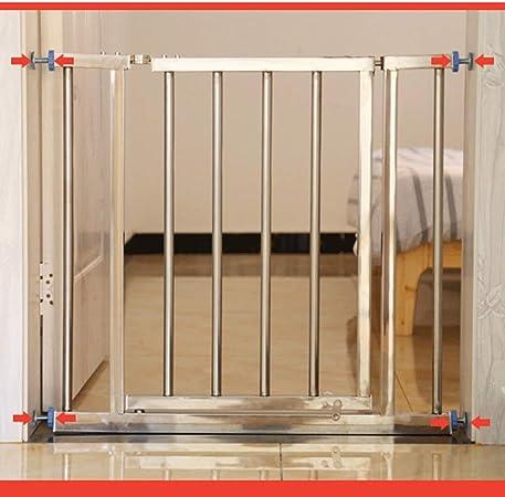 YONGYONG-Guardrail Free Punch Bebé Aislamiento Barra De La Puerta Acero Inoxidable Barra Protectora para Niños Puerta De La Mascota Bar Balcón Escalera Cerca De La Cerca 78-162 Cm (Size : 98-102cm): Amazon.es: