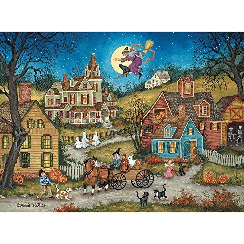 Bits and Pieces - 300 Piece Jigsaw Puzzle - The Witching Hour, Halloween - by Artist Bonnie White - 300 pc Jigsaw