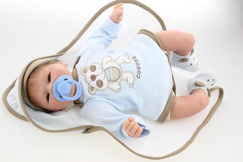 QXMEI Spielzeugpuppe Mit Schlafender Puppe Simulation Geborene Baby Mädchen Kreative Puppe