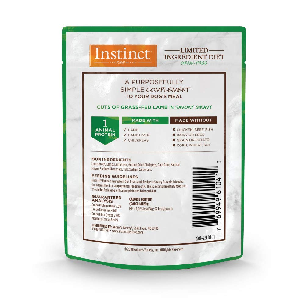 Instinct Limited Ingredient Diet Grain Free Recipe Natural Dog Food Toppers